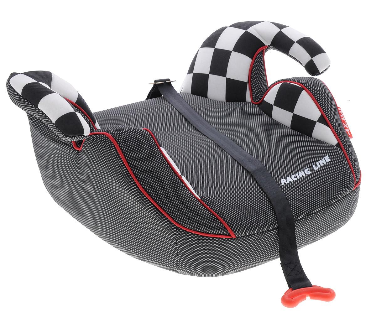 Rant Бустер Racer 15-36 кг цвет черный серый белыйCA-3505Автокресло Rant Racer предназначено для детей весом от 15 до 36 кг и относится к старшей возрастной группе.Автокресло представляет собой сиденье без спинки анатомической формы с удобными подлокотниками, которые обеспечивают комфорт ребенку при длительных поездках, а также обеспечивают правильное положение рук ребенка, чтобы он меньше уставал во время поездок. Автокресло разработано для того, чтобы приподнять ребенка на необходимую высоту, чтобы автомобильный ремень безопасности правильно проходил через грудную клетку и тазобедренную часть ребенка. В конце поездки автокресло можно с легкостью и быстро убрать в багажник машины. Его также можно использовать для поездок в такси или других автомобилях, которые не оборудованы детскими автокреслами.Съемный чехол автокресла Rant Racer изготовлен из экологичной, эластичной ткани, легко чистится или стирается вручную, возможна стирка в деликатном режиме в стиральной машине при температуре 30 градусов.Автокресло устанавливается по направлению движения на заднем сиденье автомобиля, и крепится вместе с ребенком штатными автомобильными ремнями. Специальный фиксатор положения ремня поможет правильно зафиксировать ремень на уровне груди ребенка.Диагональный ремень безопасности должен проходить через грудную клетку и плечо ребенка, а не шею. Закрепляя горизонтальный ремень безопасности через подлокотники автокресла, обязательно максимально натяните его и следите за тем, чтобы он проходил через тазобедренную часть тела, а не через живот.