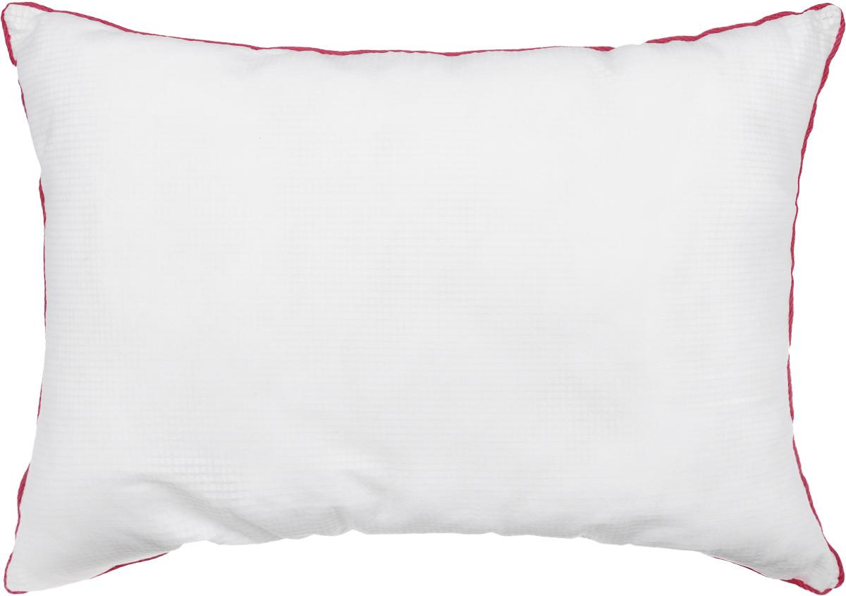 Подушка Smart Textile Невесомость, наполнитель: искусственный лебяжий пух, 50 х 70 смOU19Подушка Smart Textile Невесомость выполнена из ткани Outlast. Технология терморегуляции Outlast инновационная и эффективная. Такая технология рассчитана таким образом, чтобы обеспечить комфортную для человека температуру. Вы будете уютно чувствовать себя в любую погоду во время сна. Ткань Outlast способна сохранять излишки тепла тела и при необходимости высвобождать его наружу. Для подушки используется экологически чистый наполнитель - искусственный лебяжий пух. В нем не заводятся вредные насекомые, поэтому именно такой наполнитель является оптимальным решением для аллергиков. За таким наполнителем легко ухаживать, даже после многочисленных стирок он не собьется и не потеряет своего объема.