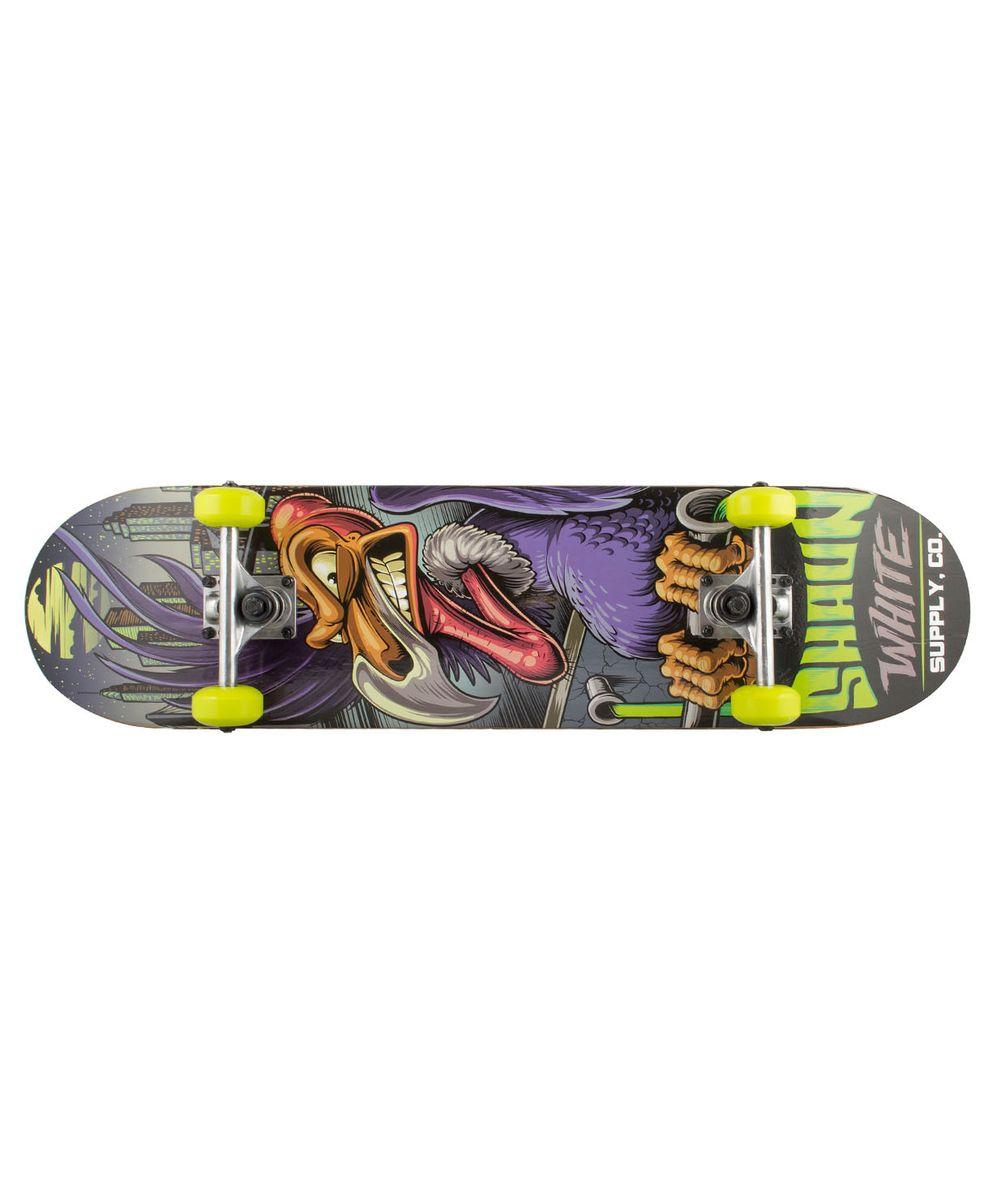 Скейтборд Shaun WHITE-3 Rams, 31,5Х8, ABEC-3УТ-00008234Скейтборд Rams, 31,5Х8 - это скейтборд для подростков и взрослых, тех, кто продолжает осваивать или уверенно стоит на доске. На данной доске уже можно уверенно учиться трюкам, так как в конструкции скейта присутствует алюминиевая подвеска, стойкая к ударам и износу. 31-ти дюймовая дека, алюминиевая подвеска, ПВХ колеса, индивидуальный дизайн. Технические характеристики: Дека: китайский клен, 9 слоев Размер деки: 31,5 дюйма Максимальный вес пользователя, кг: 100 Подвеска: алюминий Колеса: PVC Подшипники: ABEC-3 Производство: КНР