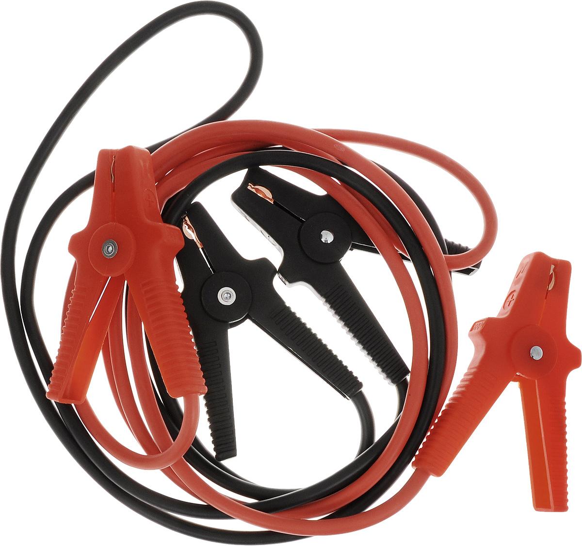 Старт-кабель Alca, CCA 400 А, длина 3 м404410Старт-кабель Alca выполнены из алюминия с медным покрытием. Зажимы полностью изолированы. Руководство по эксплуатации: Присоединение. Кабель с красными зажимами присоединить к плюсовой клемме разряженного аккумулятора, затем присоединить к плюсовой клемме аккумулятора, от которого производится пуск. Кабель с черными зажимами подключить к минусовой клемме аккумулятора, от которой производится пуск и к массе автомобиля с разряженной батареей, например к кабелю массы либо к не изолированной точке моторного блока, причем на максимальном удалении от аккумулятора, которым производится пуск для избежания возможного возгорания образующегося разрядного газа. Пуск. После присоединения проводов стартер-кабеля запустить двигатель автомобиля, от которого производится пуск, и установить средние обороты. Запустить двигатель автомобиля с разряженным аккумулятором. После каждой попытки запуска двигателя, длительность которого не...