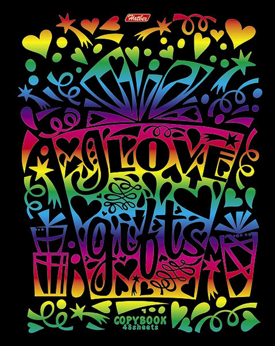 Hatber Тетрадь Калейдоскоп красок 48 листов в клетку 48Т5фВ148Т5фВ1Тетрадь Hatber Калейдоскоп красок отлично подойдет для занятий школьнику, студенту или для различных записей. Обложка, выполненная из плотного картона, украшена тиснением радужной фольгой. Игра разноцветных металлизированных переливов в сочетании с оригинальными узорами дарит тетрадке магический эффект. Внутренний блок тетради, соединенный металлическими скрепками, состоит из 48 листов белой бумаги в голубую клетку с полями.