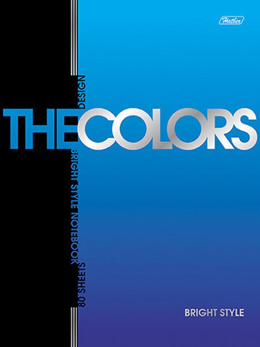 Hatber Блокнот The Colors Металлик 80 листов в клетку724-SBБлокнот Hatber Металлик из серии The Colors отлично подойдет для занятий школьнику,студенту или для различных записей.Обложка, выполненная из плотногокартона, украшена изображением английских букв.Внутренний блок тетради, соединенный металлическими скрепками, состоит из 80 листов бумаги пяти цветов с разметкой в клетку.