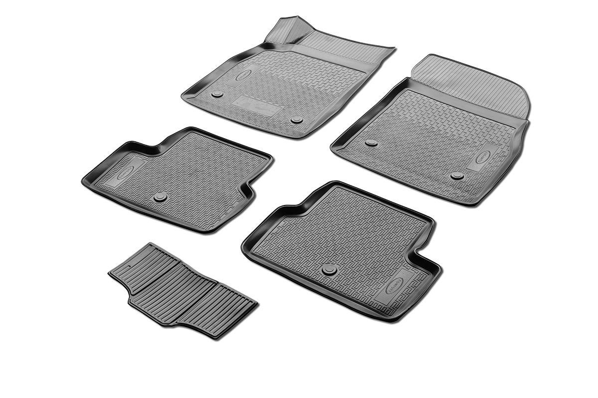 Коврики салона Rival для Chevrolet Cruze (SD, HB, WAG), c перемычкой, полиуретан0011003001Прочные и долговечные коврики Rival в салон автомобиля, изготовлены из высококачественного и экологичного сырья, полностью повторяют геометрию салона вашего автомобиля. - Надежная система крепления, позволяющая закрепить коврик на штатные элементы фиксации, в результате чего отсутствует эффект скольжения по салону автомобиля. - Высокая стойкость поверхности к стиранию. - Специализированный рисунок и высокий борт, препятствующие распространению грязи и жидкости по поверхности коврика. - Перемычка задних ковриков в комплекте предотвращает загрязнение тоннеля карданного вала. - Произведены из первичных материалов, в результате чего отсутствует неприятный запах в салоне автомобиля. - Высокая эластичность, можно беспрепятственно эксплуатировать при температуре от -45 ?C до +45 ?C. Уважаемые клиенты! Обращаем ваше внимание, что коврики имеет форму соответствующую модели данного автомобиля. Фото служит для визуального восприятия товара.