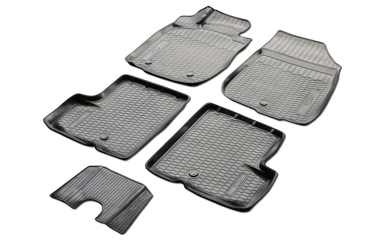Коврики салона Rival для Nissan Terrano (2WD) 2014-2016, c перемычкой, полиуретан0014108002Прочные и долговечные коврики Rival в салон автомобиля, изготовлены из высококачественного и экологичного сырья, полностью повторяют геометрию салона вашего автомобиля. - Надежная система крепления, позволяющая закрепить коврик на штатные элементы фиксации, в результате чего отсутствует эффект скольжения по салону автомобиля. - Высокая стойкость поверхности к стиранию. - Специализированный рисунок и высокий борт, препятствующие распространению грязи и жидкости по поверхности коврика. - Перемычка задних ковриков в комплекте предотвращает загрязнение тоннеля карданного вала. - Произведены из первичных материалов, в результате чего отсутствует неприятный запах в салоне автомобиля. - Высокая эластичность, можно беспрепятственно эксплуатировать при температуре от -45 ?C до +45 ?C. Уважаемые клиенты! Обращаем ваше внимание, что коврики имеет форму соответствующую модели данного автомобиля. Фото служит для визуального восприятия товара.