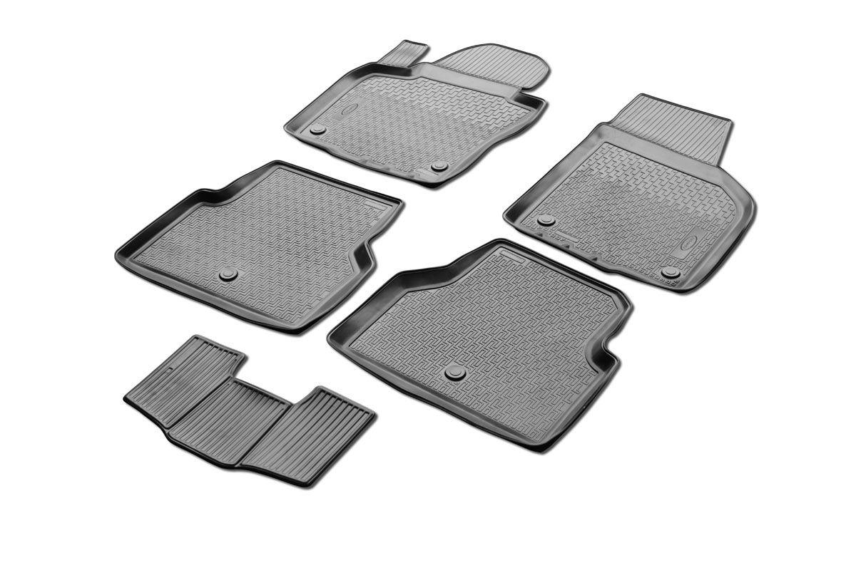 Набор автомобильных ковриков Rival, для Volkswagen Tiguan 2011-, в салон, с перемычкой, 4 шт. 00158050010015805001Прочные и долговечные коврики Rival в салон автомобиля, изготовлены из высококачественного и экологичного сырья, полностью повторяют геометрию салона вашего автомобиля. - Надежная система крепления, позволяющая закрепить коврик на штатные элементы фиксации, в результате чего отсутствует эффект скольжения по салону автомобиля. - Высокая стойкость поверхности к стиранию. - Специализированный рисунок и высокий борт, препятствующие распространению грязи и жидкости по поверхности коврика. - Перемычка задних ковриков в комплекте предотвращает загрязнение тоннеля карданного вала. - Произведены из первичных материалов, в результате чего отсутствует неприятный запах в салоне автомобиля. - Высокая эластичность, можно беспрепятственно эксплуатировать при температуре от -45 ?C до +45 ?C. Уважаемые клиенты! Обращаем ваше внимание, что коврики имеет форму соответствующую модели данного автомобиля. Фото служит для визуального восприятия товара.