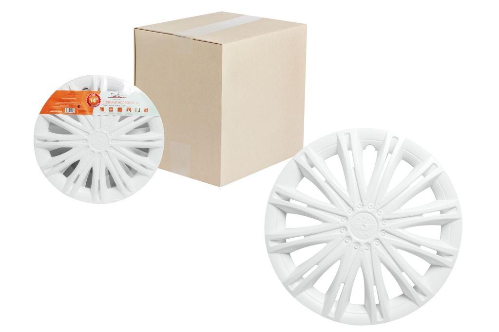 Колпаки колесные Airline Скай, цвет: белый, 14, 2 шт. AWCC-14-12AWCC-14-12Колпаки колесные Airline Скай изготовлены из ударопрочного полистирола, имеют модную текстуру, имитирующую карбон, покрашены в популярные цвета, а также стойкие к повышенным и пониженным температурам. Колпаки снабжены надежными универсальными креплениями, позволяющими обеспечивать равномерное распределение давления на все защелки. Колпаки Airline защитят тормозную систему от грязи, соли и реагентов, скроют изъяны штампованных дисков, тем самым украсив ваш автомобиль.