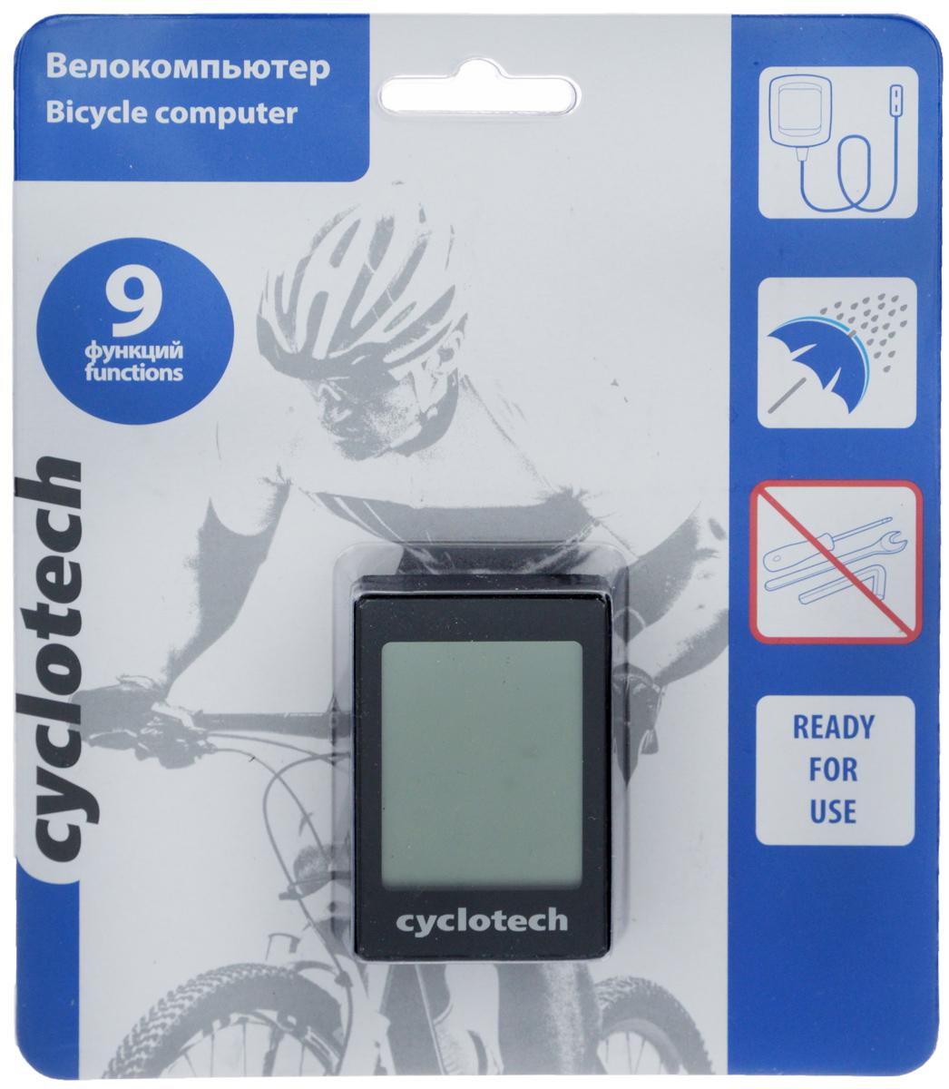Велокомпьютер Cyclotech, 9 функцийMW-1462-01-SR серебристыйПроводной велокомпьютер Cyclotech оснащен девятью функциями и предназначен для использования при занятиях велоспортом. Это удобный и простой в использовании электронный прибор, предоставляющий велосипедисту всю необходимую информацию о поездке. Велокомпьютер крепится на руле с возможностью мгновенно отсоединить его, когда нет желания оставлять на велосипеде без присмотра или под дождем. Функции: сравнение скоростей; текущий пробег; задание дистанций; память на два велосипеда; время в пути; часы; режим энергосбережения; автоматический старт измерений; возможность конвертации из миль в километры и обратно.