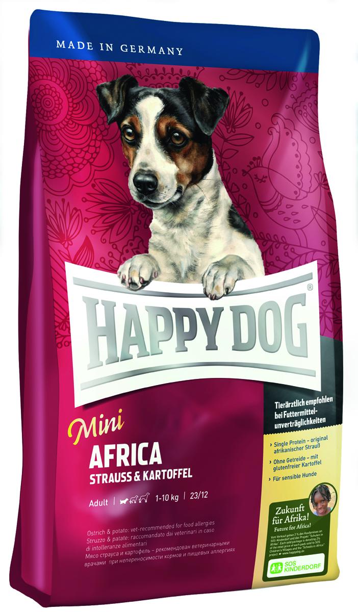Корм сухой Happy Dog Африка для собак мелких пород, со страусом и картофелем, 4 кг60121Сухой корм Happy Dog Африка идеален для всех требовательных лакомок небольшого размера, которые предпочитают нестандартный корм или очень разборчивы в еде. Он хорошо подходит также для собак мелких пород с чувствительным пищеварением, так как учитывает их особые потребности. Уникальная формула корма объединяет мясо страуса и картофель. Мясо страуса является источником очень редкого белка и идеально подходит для собак, страдающих пищевой непереносимостью. Картофель не содержит глютена и рекомендован для собак, не переносящих злаки. Эксклюзивную рецептуру дополняют ценные Омега-3 и Омега- 6 жирные кислоты, которые гарантируют собаке здоровую кожу и блестящую шерсть. Очень маленькие крокеты идеально соответствуют форме челюстей собак мелких пород. Состав: картофельные хлопья (48%), страус (18%), картофельный белок, птичий жир, масло из семян подсолнечника, гидролизат печени, свекольная пульпа, яблочная пульпа (0,8%), рапсовое масло,...