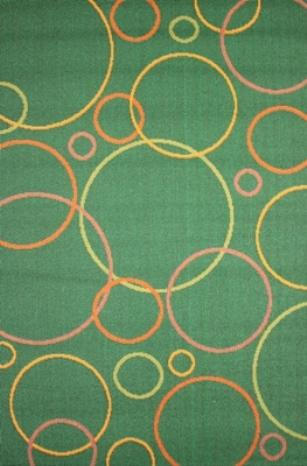 Коврик прикроватный Oriental Weavers Дaзл, цвет: зеленый, 67 см х 120 см. 663 KES-412Яркая циновка с мягким и упругим ворсом-неповторимый элемент для современных гостиных и детских комнат