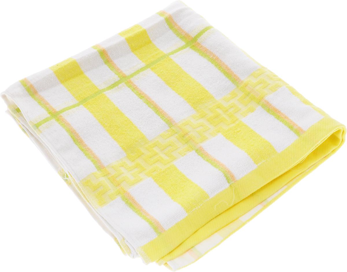 Полотенце Soavita Светлая клетка, цвет: желтый, белый, зеленый, 70 х 140 см61235Полотенце Soavita Светлая клетка выполнено из 100% хлопка. Изделие отлично впитывает влагу, быстро сохнет, сохраняет яркость цвета и не теряет форму даже после многократных стирок. Полотенце очень практично и неприхотливо в уходе. Оно создаст прекрасное настроение и украсит интерьер в ванной комнате.
