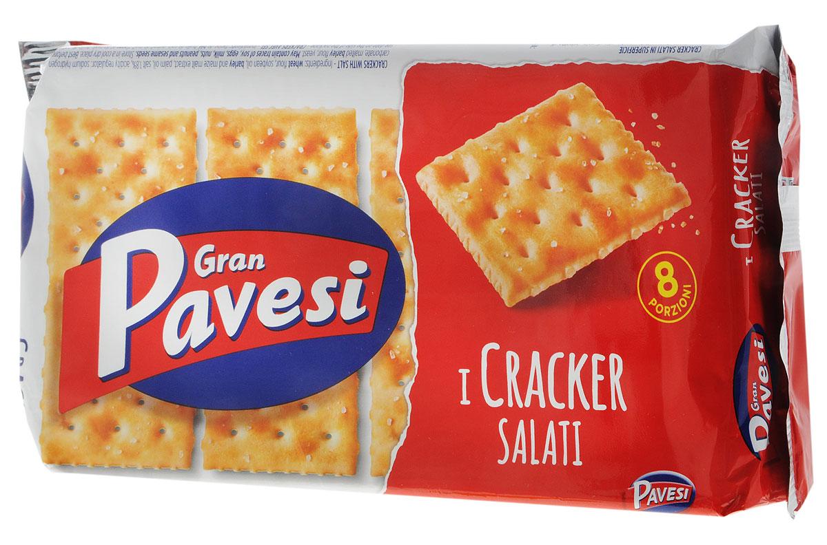 Gran Pavesi Cracker Salati крекер соленый, 250 г0120710Gran Pavesi Cracker Salati - классический соленый хрустящий крекер с уникальной структурой и насыщенным вкусом, приготовленный по традиционным итальянским рецептам на основе высококачественных и натуральных ингредиентов. Без гидрогенизированных жиров, консервантов и красителей.