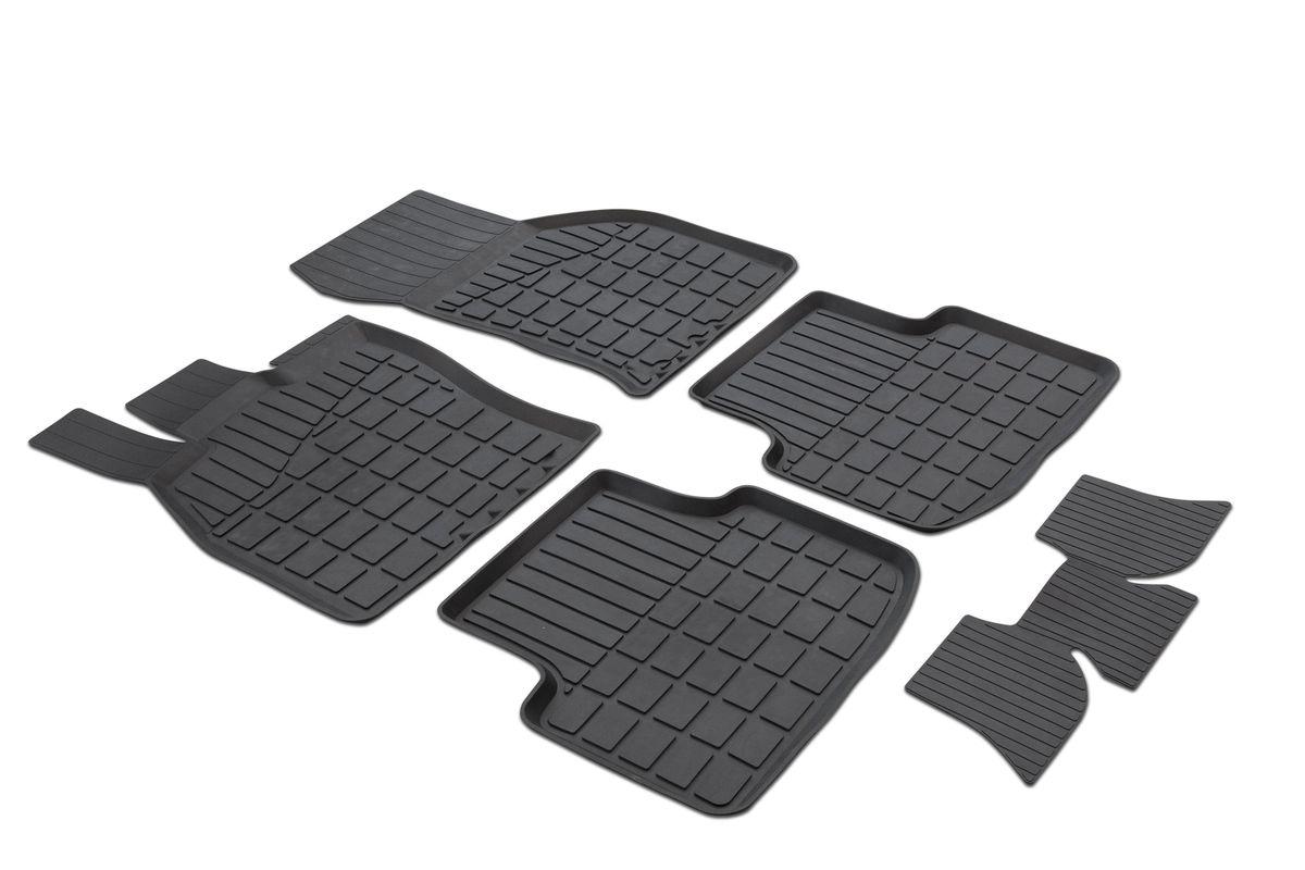 Коврики салона Rival литьевые для Skoda Octavia A7 2013-, c перемычкой, резина0065101001Современная версия ковриков Rival для автомобилей, изготовлены из высококачественного и экологичного сырья с использованием технологии высокоточного литься под давлением, полностью повторяют геометрию салона вашего автомобиля. - Усиленная зона подпятника под педалями защищает наиболее подверженную истиранию область. - Надежная система крепления, позволяющая закрепить коврик на штатные элементы фиксации, в результате чего отсутствует эффект скольжения по салону автомобиля. - Высокая стойкость поверхности к стиранию. - Специализированный рисунок и высокий борт, препятствующие распространению грязи и жидкости по поверхности коврика. - Перемычка задних ковриков в комплекте предотвращает загрязнение тоннеля карданного вала. - Произведены из первичных материалов, в результате чего отсутствует неприятный запах в салоне автомобиля. - Высокая эластичность, можно беспрепятственно эксплуатировать при температуре от -45 ?C до +45 ?C. Уважаемые клиенты!...