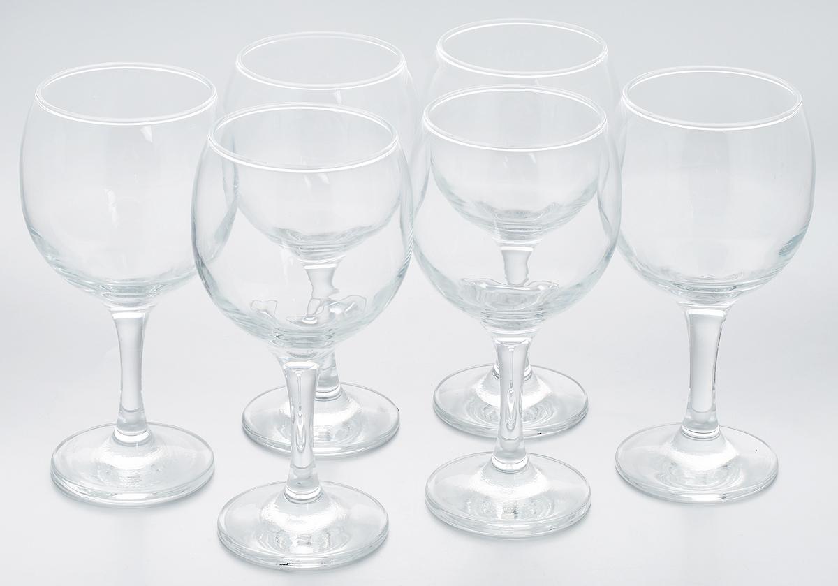 Набор бокалов Pasabahce Bistro, 290 мл, 6 штVT-1520(SR)Набор Pasabahce Bistro состоит из шести бокалов, выполненных из прочного натрий-кальций-силикатного стекла. Бокалы предназначены для подачи вина, сока и других напитков. Они сочетают в себе элегантный дизайн и функциональность.Набор бокалов Pasabahce Bistro прекрасно оформит праздничный стол и создаст приятную атмосферу за романтическим ужином. Также он станет хорошим подарком к любому случаю. Можно мыть в посудомоечной машине.Диаметр бокала по верхнему краю: 6,5 см. Высота бокала: 16 см.