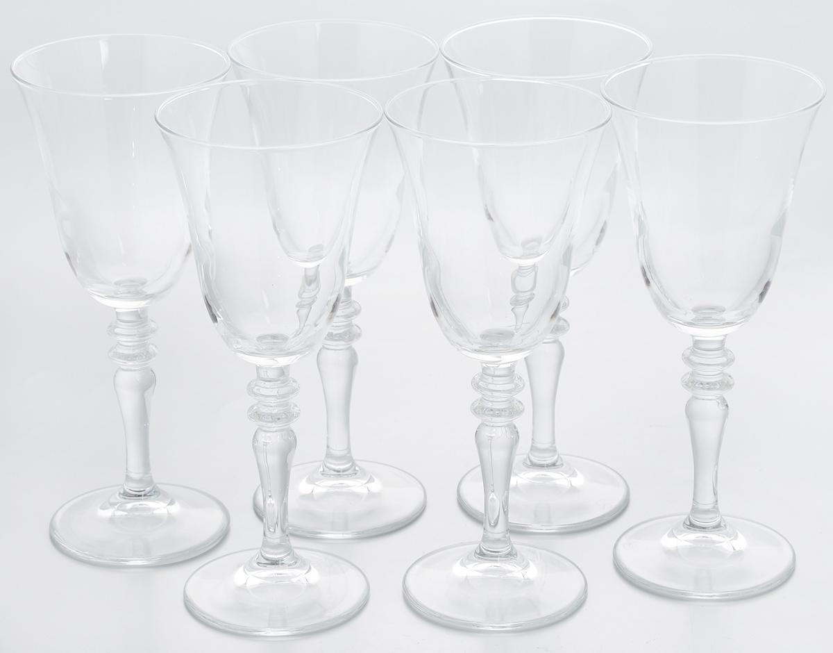 Набор бокалов Pasabahce Vintage, 236 мл, 6 шт440184BНабор Pasabahce Vintage состоит из шести бокалов, выполненных из прочного натрий-кальций-силикатного стекла. Изделия оснащены изящными ножками, отлично подходят для подачи вина и других напитков. Бокалы сочетают в себе элегантный дизайн и функциональность. Набор бокалов Pasabahce Vintage прекрасно оформит праздничный стол и создаст приятную атмосферу за ужином. Такой набор также станет хорошим подарком к любому случаю. Можно мыть в посудомоечной машине. Диаметр бокала по верхнему краю: 8,5 см. Высота бокала: 20 см.
