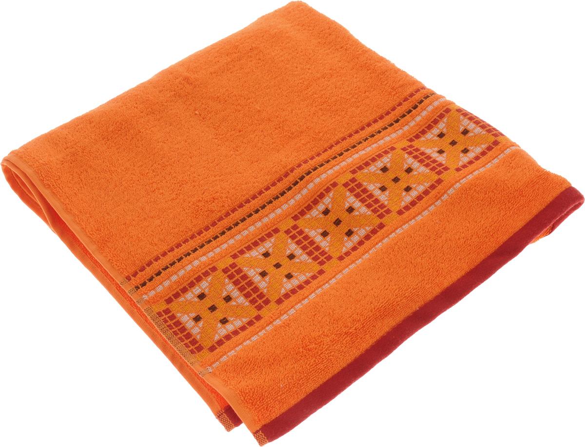 Полотенце Soavita Luxury. Star, цвет: оранжевый, 70 х 140 см61103Полотенце Soavita Luxury. Star выполнено из 100% хлопка. Изделие отлично впитывает влагу, быстро сохнет, сохраняет яркость цвета и не теряет форму даже после многократных стирок. Полотенце очень практично и неприхотливо в уходе. Оно создаст прекрасное настроение и украсит интерьер в ванной комнате.
