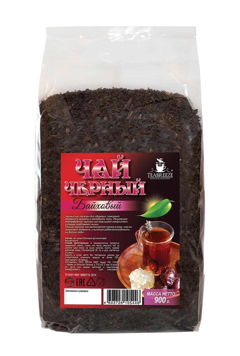 Teabreeze крупнолистовой черный байховый чай, 900 гTB 1707-900Teabreeze Байховый - среднелистовой чай из ломаного листа. Настой отличается красно-оранжевым цветом. Рекомендуется настаивать до 5 минут и употреблять небольшими глотками с кусочками колотого сахара (сахарные головы) или с традиционными восточными сладостями. Часто в стакан кладут кусочек имбиря или корицы.
