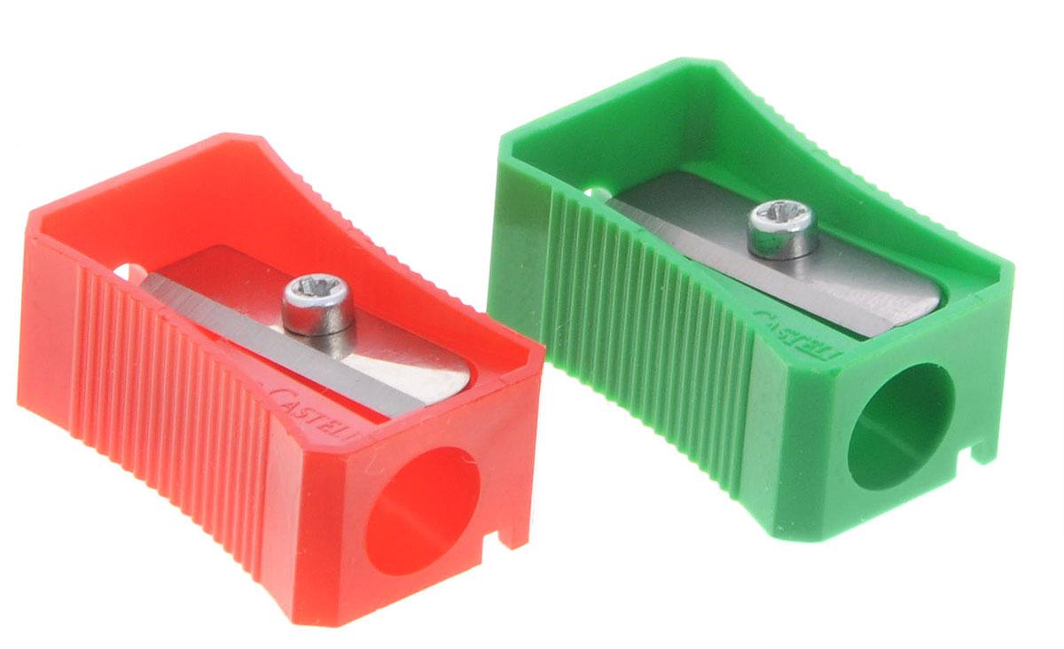 Faber-Castell Точилка цвет зеленый красный 2 штFS-54103Точилка Faber-Castell предназначена для затачивания классических простых и цветных карандашей.В наборе две точилки из пластика зеленого и красного цветов с рифленой областью захвата. Острые лезвия обеспечивают высококачественную и точную заточку деревянных карандашей.