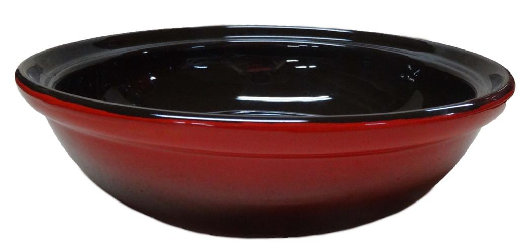 Салатник Борисовская керамика Модерн, цвет: красный, черный, 1 л115510Салатник Борисовская керамика Модерн выполнен из высококачественной глазурованной керамики. Этот удобный салатник придется по вкусу любителям здоровой и полезной пищи. Благодаря современной удобной форме, изделие многофункционально и может использоваться хозяйками на кухне как в виде салатника, так и для запекания продуктов, с последующим хранением в нем приготовленной пищи. Посуда термостойкая. Можно использовать в духовке и микроволновой печи. Диаметр (по верхнему краю): 22 см.Высота стенки: 6 см.