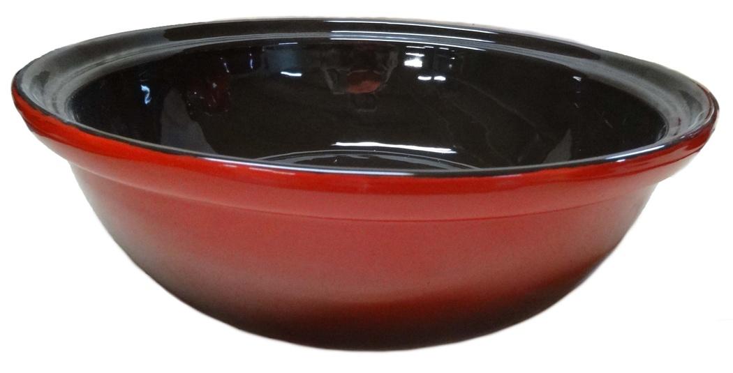 Салатник Борисовская керамика Модерн, цвет: красный, черный, 2,5 лКРС14456607_красный, черныйСалатник Борисовская керамика Модерн выполнен из высококачественной глазурованной керамики. Этот большой и вместительный салатник придется по вкусу любителям здоровой и полезной пищи. Благодаря современной удобной форме, изделие многофункционально и может использоваться хозяйками на кухне как в виде салатника, так и для запекания продуктов, с последующим хранением в нем приготовленной пищи. Посуда термостойкая. Можно использовать в духовке и микроволновой печи. Диаметр (по верхнему краю): 28 см. Высота стенки: 9 см.