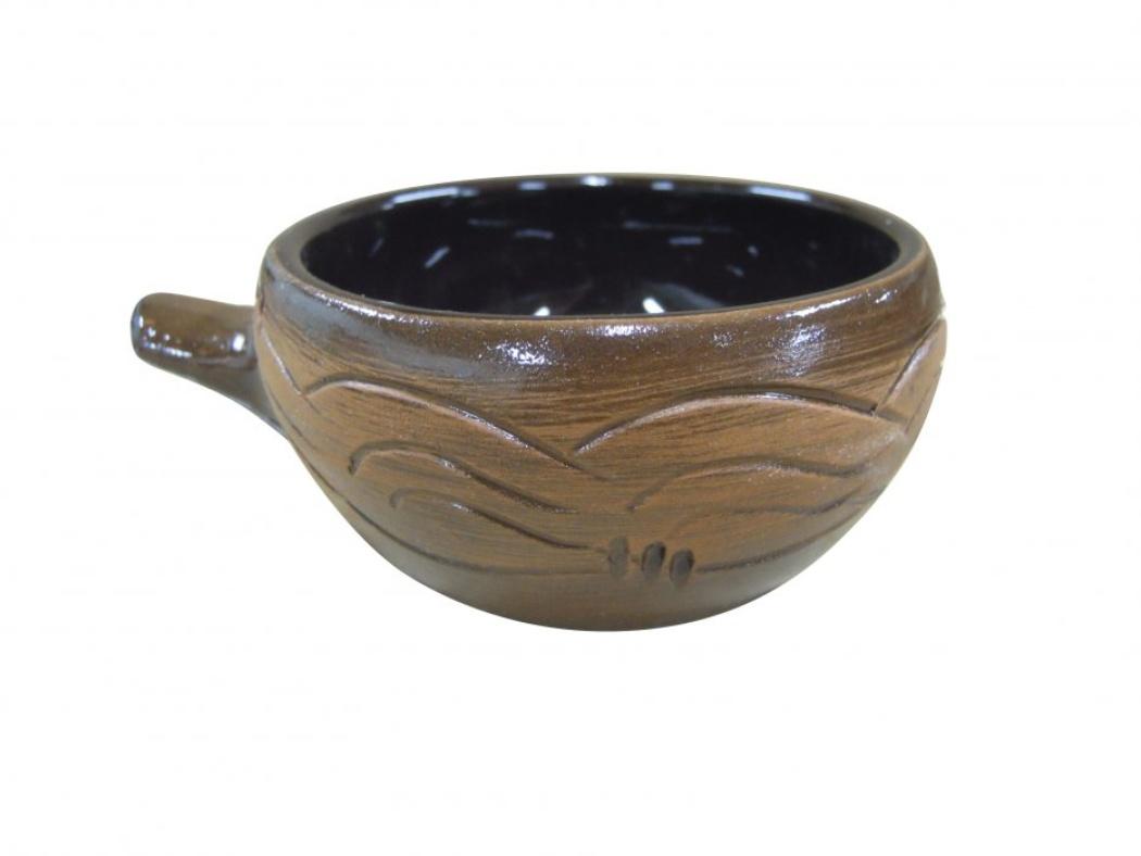 Кокотница Борисовская керамика Старина, 0,18 лСТР00000416Кокотница Борисовская керамика Старина никого не оставляет равнодушным. Она выполнена из высококачественной искусственно состаренной керамики. Внешние стенки оформлены узором. В кокотнице можно удобно запекать кексы, делать жульены. Она отлично подойдет для сервировки стола и подачи блюд. Кокотницу можно использовать как порционно, так и для подачи приправ, острых соусов и другого. Подходит для использования в микроволновой печи и духовке. Высота: 5 см. Диаметр: 9 см.