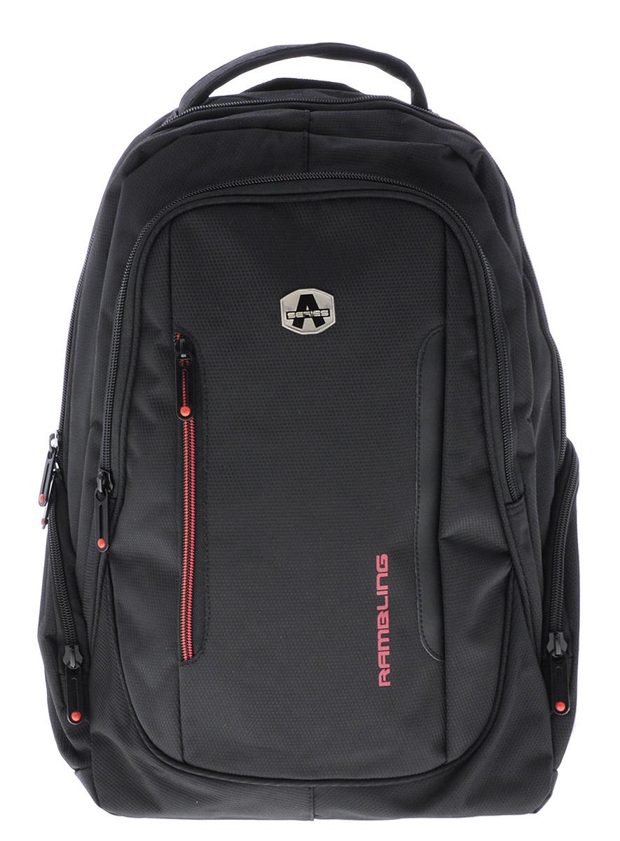 Hatber Рюкзак Black Style 5NRk_15508Рюкзак Hatber Black Style-5 - классический рюкзак для человека, ведущего активный образ жизни. Рюкзак имеет одно основное отделение, закрывающееся на молнию с двумя бегунками. Внутри главного отделения расположен разделитель с хлястиком на липучке, предназначенный для ноутбука. На лицевой стороне рюкзака расположены 2 кармана. Большой наружный карман на молнии с двумя бегунками имеет внутри 4 открытых накладных кармашка и один сетчатый кармашек. Маленький наружный карман на молнии с вертикальным расположением обеспечивает быстрый доступ к необходимым вещам. По бокам рюкзака расположены два небольших кармана на молнии. Эргономичная вентилируемая спинка с мягкими вставками из спонжа обеспечит комфорт при носке, а широкие лямки с мягкой подкладкой регулируются по длине и надежно фиксируют рюкзак, правильно распределяя нагрузку и предотвращая перенапряжение мышц. Спинка рюкзака оснащена внешним карманом на молнии. Внутри кармана имеется два сетчатых кармашка. Лямки...
