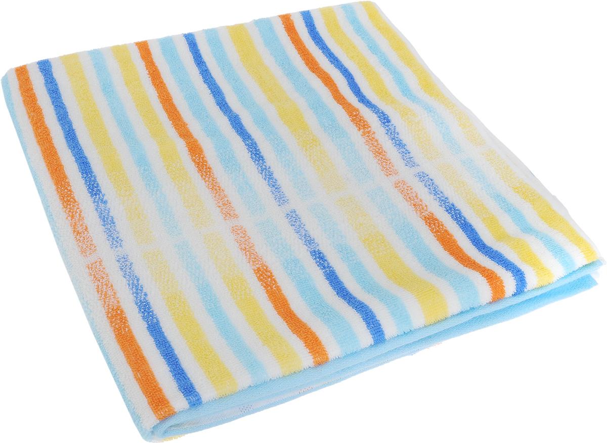Полотенце Soavita Premium. Lily, цвет: белый, желтый, голубой, 70 х 140 см10503Полотенце Soavita Premium. Lily выполнено из 100% хлопка. Изделие отлично впитывает влагу, быстро сохнет, сохраняет яркость цвета и не теряет форму даже после многократных стирок. Полотенце очень практично и неприхотливо в уходе. Оно создаст прекрасное настроение и украсит интерьер в ванной комнате.