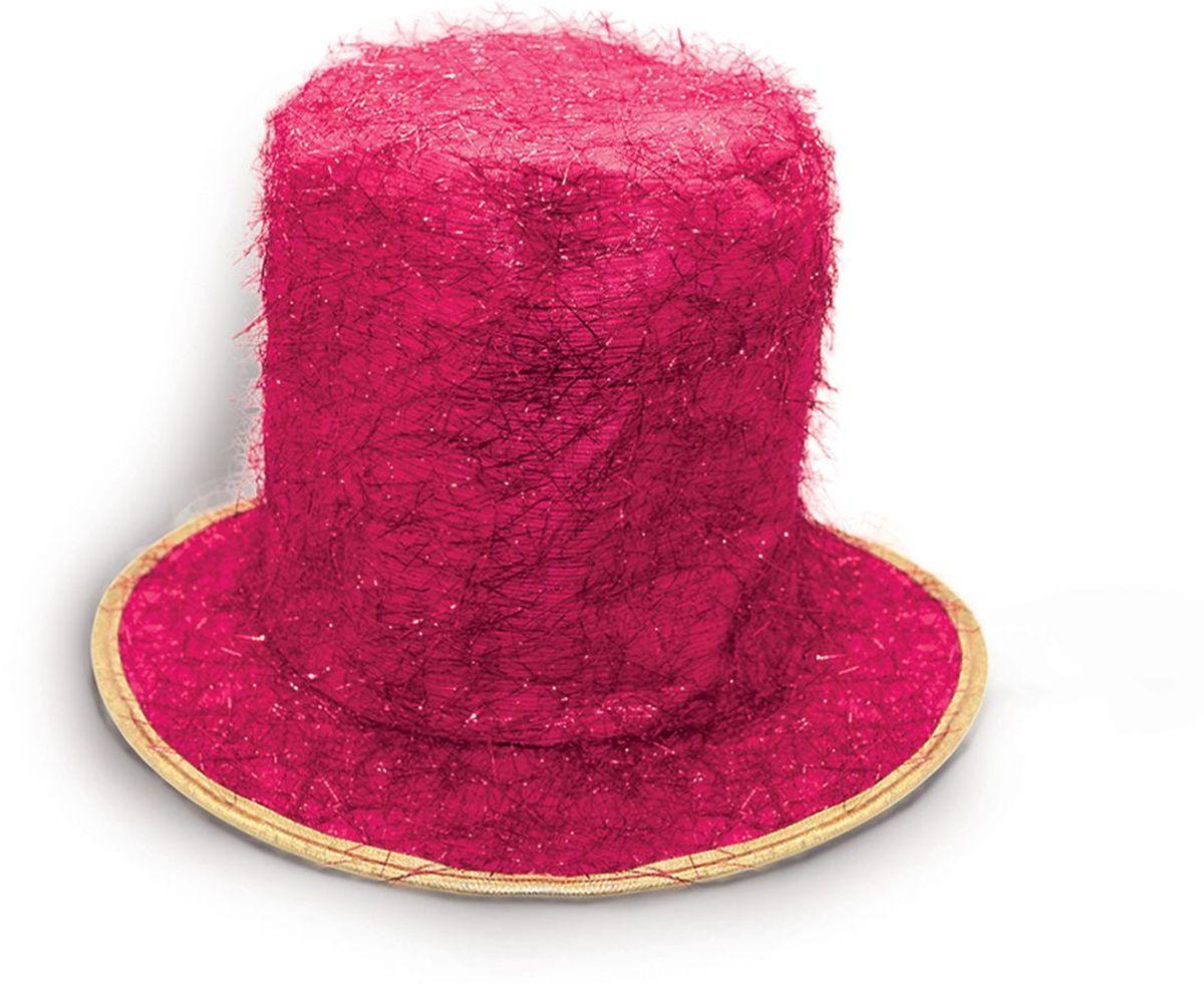 Partymania Шляпа карнавальная Цилиндр клоуна T1229 цвет розовый