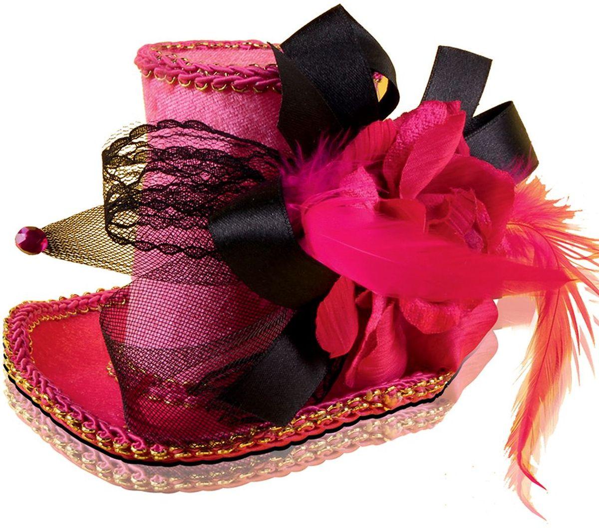 Partymania Шляпка-таблетка карнавальная Винтаж цвет красный