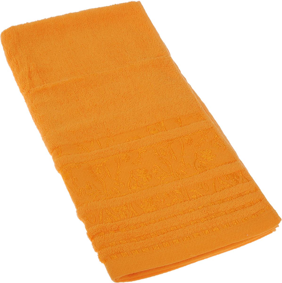 Полотенце Soavita Sandra, цвет: оранжевый, 50 х 90 см64064Полотенце Soavita Sandra выполнено из 100% хлопка. Изделие отлично впитывает влагу, быстро сохнет, сохраняет яркость цвета и не теряет форму даже после многократных стирок. Полотенце очень практично и неприхотливо в уходе. Оно создаст прекрасное настроение и украсит интерьер в ванной комнате.