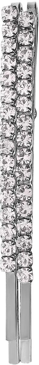 Заколка-невидимка Mitya Veselkov, цвет: белый. ZAKN4-CRYSMP59.3DСтильная заколка-невидимка Mitya Veselkov выполнена из металла и инкрустирована стразами.Яркий изысканный дизайн заколки-невидимки делают ее удобным и практичным, а также стильным и нарядным аксессуаром, призванным выгодно подчеркнуть непревзойденную женственность и индивидуальность своей обладательницы.