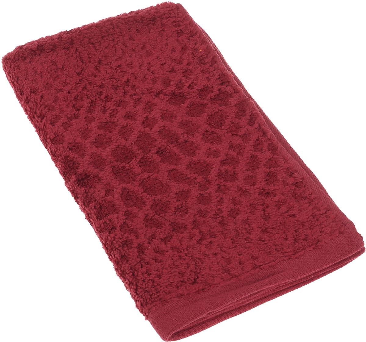 Полотенце Soavita Serval, цвет: темно-красный, 30 х 50 см12245Полотенце Soavita Serval выполнено из 50% хлопка и 50% бамбука. Изделие отлично впитывает влагу, быстро сохнет, сохраняет яркость цвета и не теряет форму даже после многократных стирок. Полотенце очень практично и неприхотливо в уходе. Оно создаст прекрасное настроение и украсит интерьер в ванной комнате.