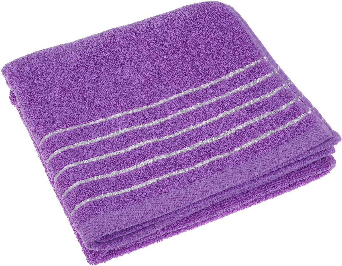 Полотенце Soavita Olivia, цвет: лиловый, 50 х 90 см64010Полотенце Soavita Olivia выполнено из 100% хлопка. Изделие отлично впитывает влагу, быстро сохнет, сохраняет яркость цвета и не теряет форму даже после многократных стирок. Полотенце очень практично и неприхотливо в уходе. Оно создаст прекрасное настроение и украсит интерьер в ванной комнате.