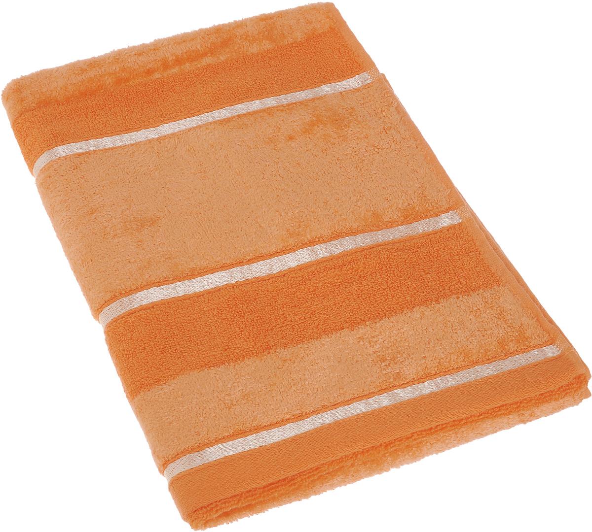 Полотенце Soavita Louise, цвет: оранжевый, 50 х 90 см64033Полотенце Soavita Louise выполнено из 100% хлопка. Все детали качественно прошиты, ткань очень плотная, не линяет и держится много лет. Изделие отлично впитывает влагу, быстро сохнет, сохраняет яркость цвета и не теряет форму даже после многократных стирок. Полотенце очень практично и неприхотливо в уходе. Оно создаст прекрасное настроение и украсит интерьер в ванной комнате.
