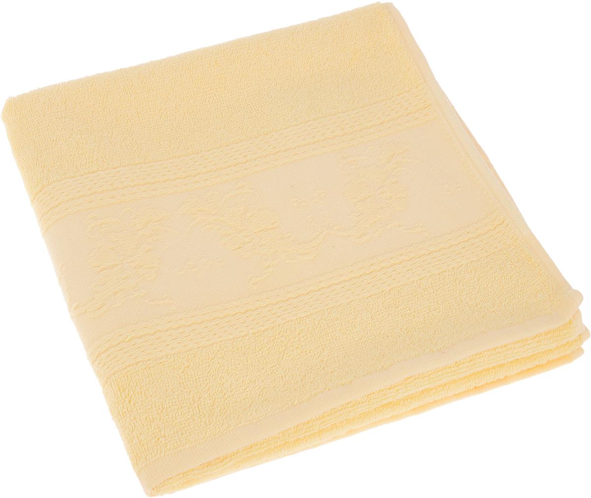 Полотенце Soavita Luxury. Цветы, цвет: желтый, 50 х 70 см51708Полотенце Soavita Luxury. Цветы выполнено из 40% хлопка и 60% бамбука. Изделие отлично впитывает влагу, быстро сохнет, сохраняет яркость цвета и не теряет форму даже после многократных стирок. Полотенце очень практично и неприхотливо в уходе. Оно создаст прекрасное настроение и украсит интерьер в ванной комнате.