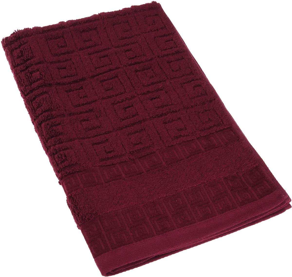 Полотенце Soavita Alber, цвет: бордовый, 50 х 70 см64148Полотенце Soavita Alber выполнено из 100% бамбукового волокна. Изделие отлично впитывает влагу, быстро сохнет, сохраняет яркость цвета и не теряет форму даже после многократных стирок. Полотенце очень практично и неприхотливо в уходе. Оно создаст прекрасное настроение и украсит интерьер в ванной комнате.