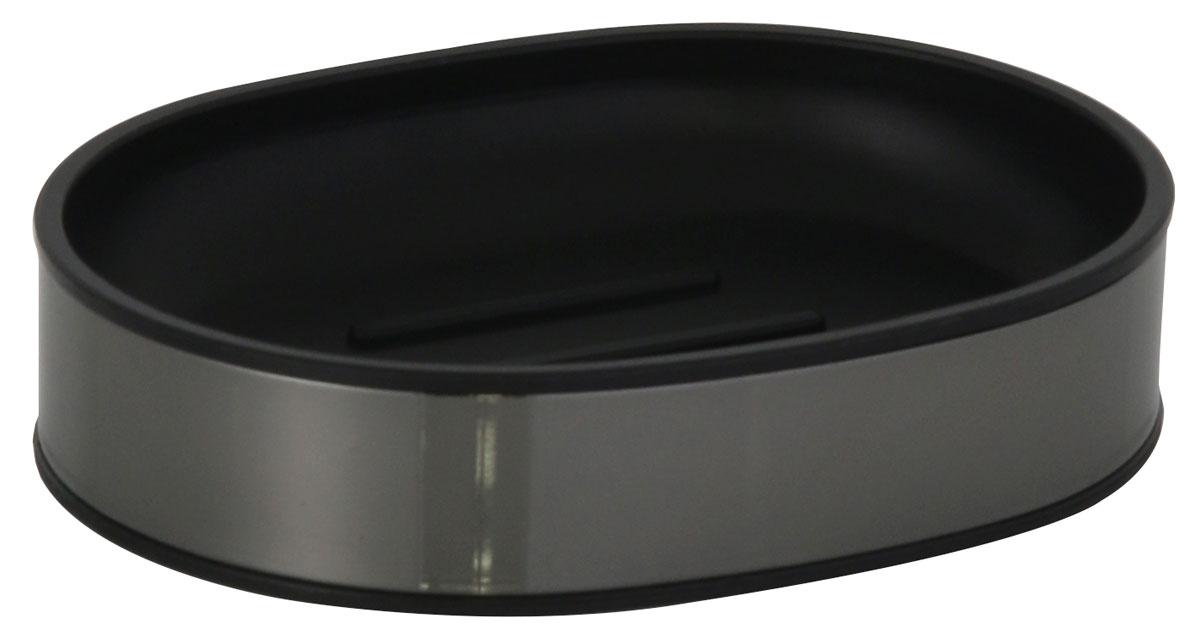 Мыльница Axentia Bologna, 11,2 х 8,5 х 2,5 см122390Мыльница Axentia Bologna изготовлена из сатинированной нержавеющей стали черного цвета снаружи и черного полипропилена внутри. Изделие удобно в использовании. Мыло не тает и не засыхает, его остатки легко смываются водой. Такая мыльница прекрасно подойдет для ванной комнаты или кухни. Мыльница Axentia Bologna создаст особую атмосферу уюта и максимального комфорта в ванной. Отлично сочетается с другими аксессуарами из коллекции Bologna. Размер мыльница: 11,2 х 8,5 х 2,5 см.