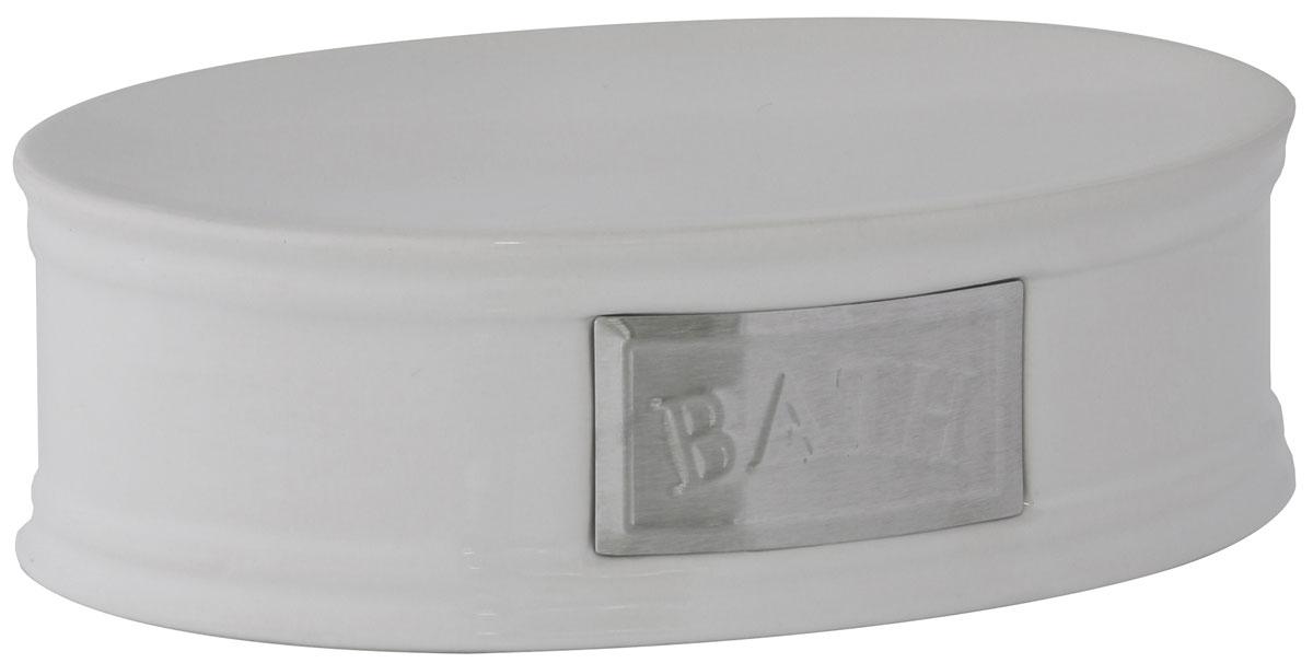 Мыльница Axentia Lyon, 14,5 х 10,2 х 4,5 смUP210DFМыльница Axentia Lyon - это сочетание белоснежной керамики с элементами из нержавеющей стали в античном стиле. Изделие отлично дополнит интерьер ванной комнаты или кухни.Размер мыльницы: 14,5 х 10,2 х 4,5 см.