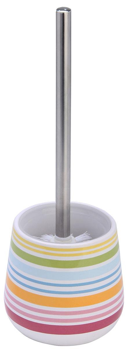 Ершик для унитаза Axentia Rio, с подставкой, высота 37,5 см282461Ершик для унитаза Axentia Rio имеет ручку из высококачественной нержавеющей стали и белую щетку, с жестким густым ворсом. Подставка, выполненная из натуральной и элегантной керамики, декорирована ярким цветным рисунком Rio. Высококачественные материалы позволят наслаждаться покупкой долгие годы. Изделие приятно дополнит интерьер вашей туалетной комнаты.