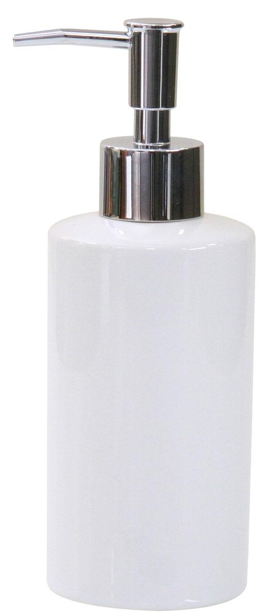 Дозатор для жидкого мыла Axentia Bianco19201Дозатор для жидкого мыла Axentia Bianco изготовлен из натуральной и элегантной керамики белого цвета. Изделие превосходно дополнит интерьер вашей ванной комнаты или кухни, отлично сочетается с другими аксессуарами из коллекции Bianco.Высота дозатора: 18 см.