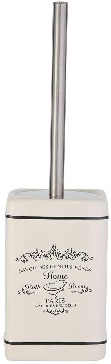 Ершик для унитаза Axentia Lissabon, с подставкой, высота 37 см122152Ершик для унитаза Axentia Lissabon имеет ручку из высококачественной нержавеющей стали и белую щетку, с жестким густым ворсом. Подставка, изготовленная из натуральной и элегантной керамики, оснащена крышкой и имеет оригинальный декор Lissabon. Высококачественные материалы позволят наслаждаться покупкой долгие годы. Изделие приятно дополнит интерьер вашей туалетной комнаты.