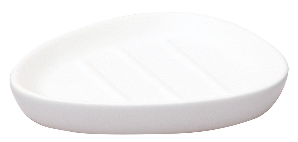 Мыльница Axentia Lasslo, 13,5 х 10,5 х 2,5 см282345Мыльница Axentia Lasslo, изготовленная из белой матовой керамики, имеет оригинальную форму. Стильная мыльница придаст уют и настроение в вашей ванной комнате. Размер мыльницы: 13,5 х 10,5 х 2,5 см.
