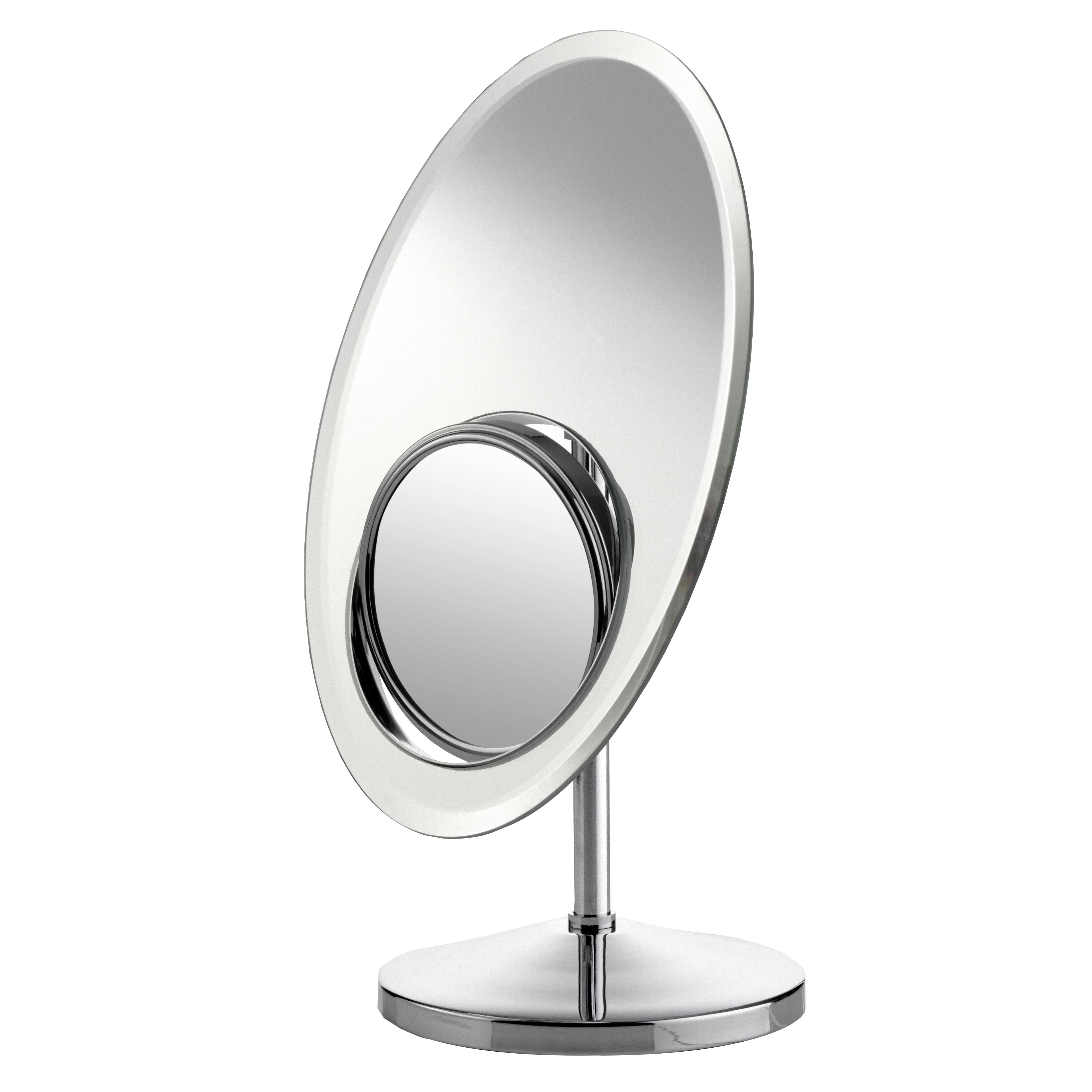 """Зеркало косметическое """"Axentia"""", настольное, со встроеным увеличительным зеркалом, 30 х 20 см 282807"""