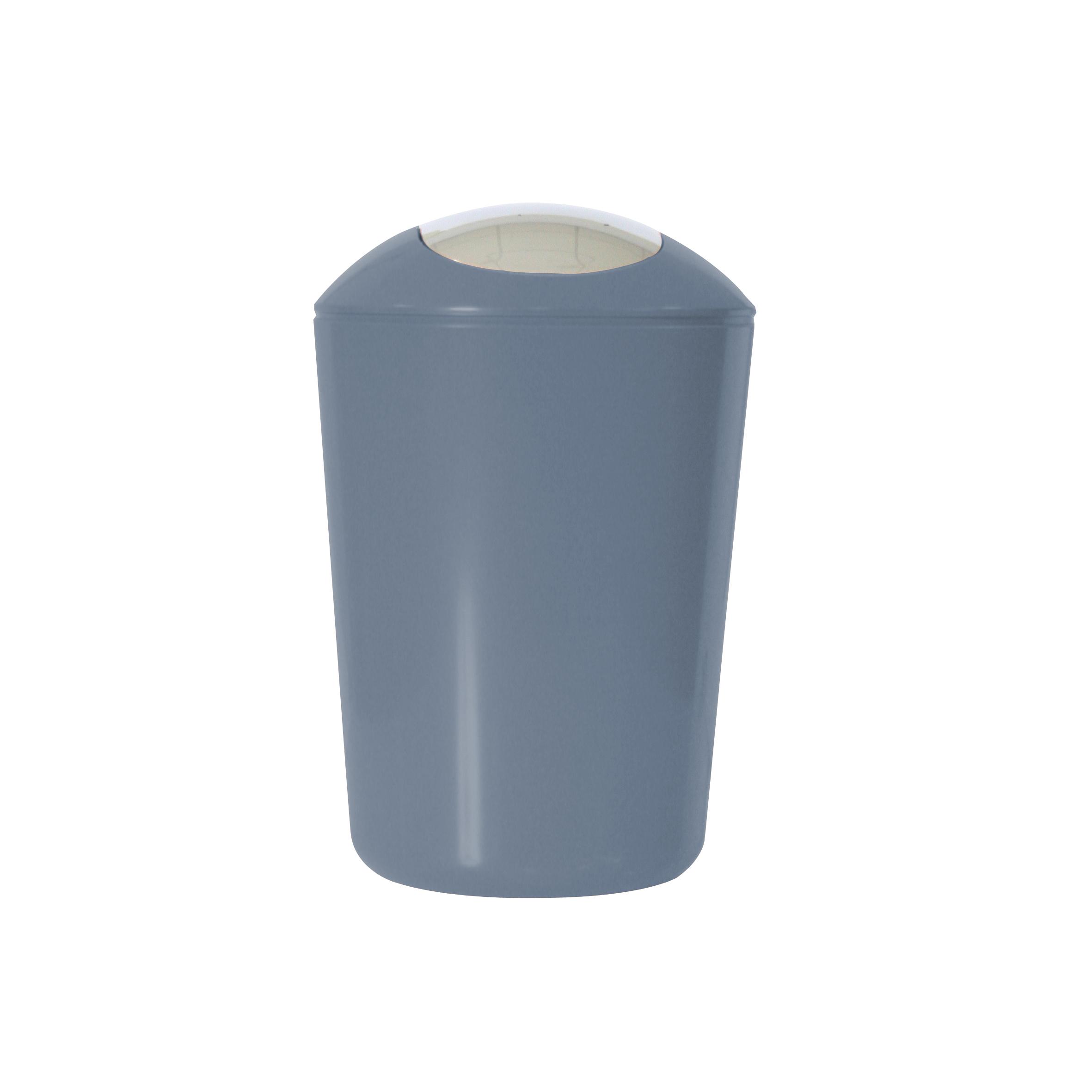 Ведро для мусора Axentia, с крышкой, цвет: серый, хром, 5 л251080Глянцевое ведро для мусора Axentia, выполненное из высококачественного износостойкого пластика, оснащено хромированную крышку типа «качели». Подходит для использования в ванной комнате или на кухне. Стильный дизайн и яркая расцветка прекрасно подойдет для любого интерьера ванной комнаты или кухни. Размер ведра: 20 х 20 х 30 см. Объем ведра: 5 л.