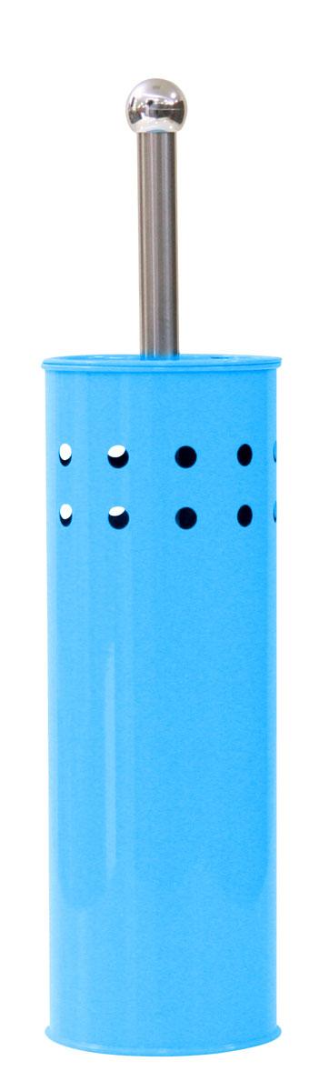 Ершик для унитаза Axentia, с подставкой, цвет: голубой, серебристый, высота 38,5 см282234Ершик для унитаза Axentia имеет ручку из нержавеющей стали и белую щетку, с жестким густым ворсом. Подставка выполнена в виде цилиндра, изготовленного из нержавеющей стали с серым стойким порошковым напылением. Цилиндр имеет декоративные отверстия по верхней части окружности, внутри которого имеется пластиковый стакан для остаточной влаги. Высококачественные материалы позволят наслаждаться покупкой долгие годы. Изделие приятно дополнит интерьер вашей туалетной комнаты.