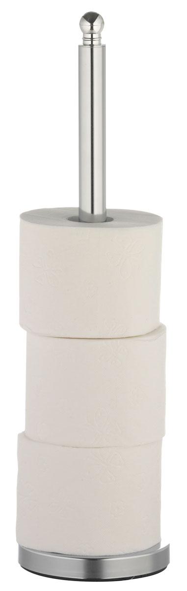 Накопитель для туалетной бумаги Axentia, для 4 рулонов, высота 51 см282242Накопитель Axentia, изготовленный из высококачественной хромированной стали, устойчивой к проявлению коррозии, вмещает 4 классических рулона туалетной бумаги. Простой и удобный аксессуар для хранения запасных рулонов пригодится в любом доме. Размер накопителя: 15 х 15 х 51 см.