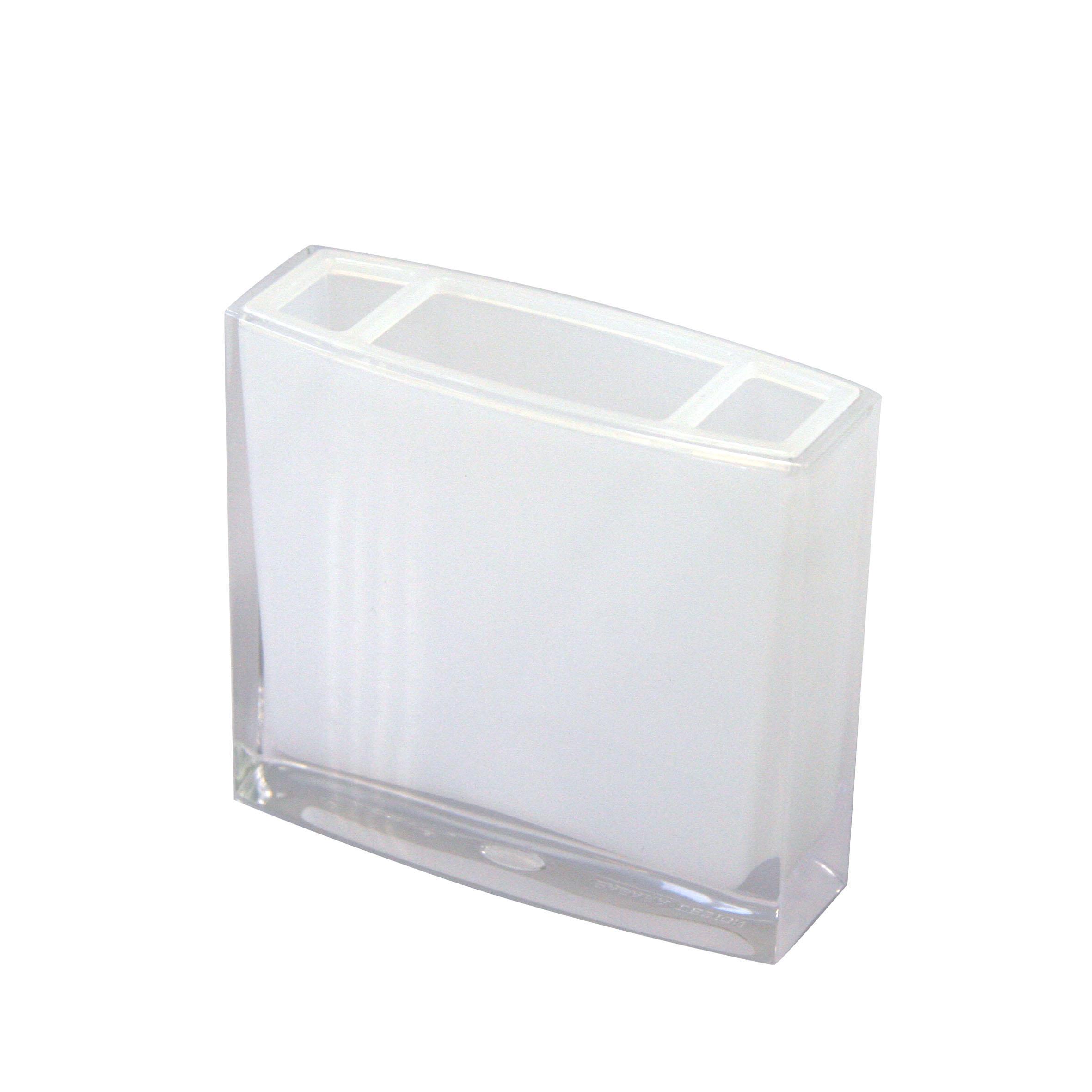 Стакан для зубных щеток Axentia Priamos, цвет: белый, высота 10,5 см282323Стакан для зубных щеток Axentia Priamos изготовлен из высококачественного акрила белого цвета. Изделие превосходно дополнит интерьер ванной комнаты, отлично сочетается с другими аксессуарами из коллекции Priamos. Размеры стакана: 10,5 х 9,5 х 3 см.