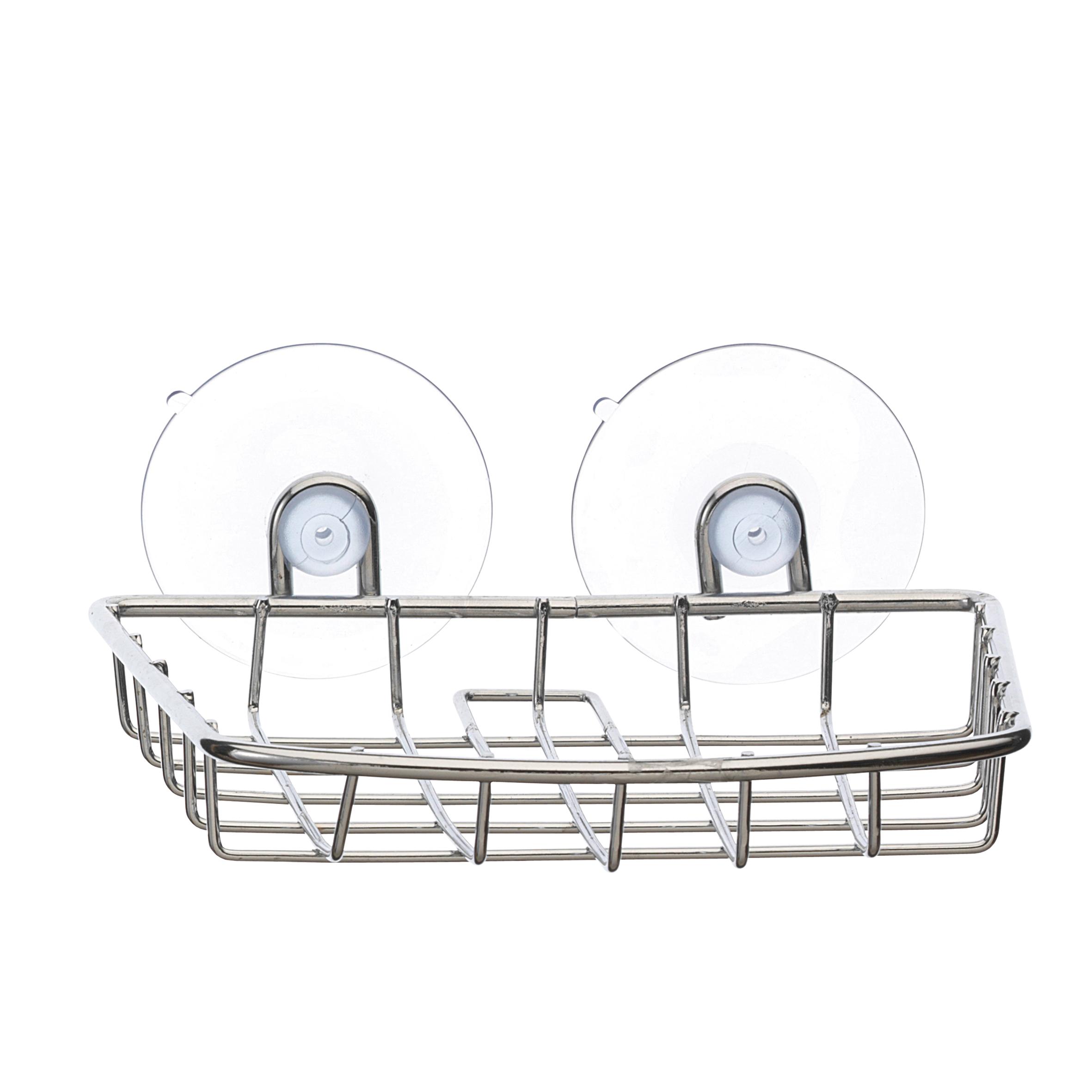 Мыльница Top Star, подвесная, на присосках391602Настенная мыльница Top Star изготовлена из высококачественной хромированной стали. Устойчива к коррозии в условиях высокой влажности в ванной комнате. Крепится к стене на двух присосках (входят в комплект).Такая мыльница притягивает взгляд и прекрасно подойдет к интерьеру ванной комнаты.