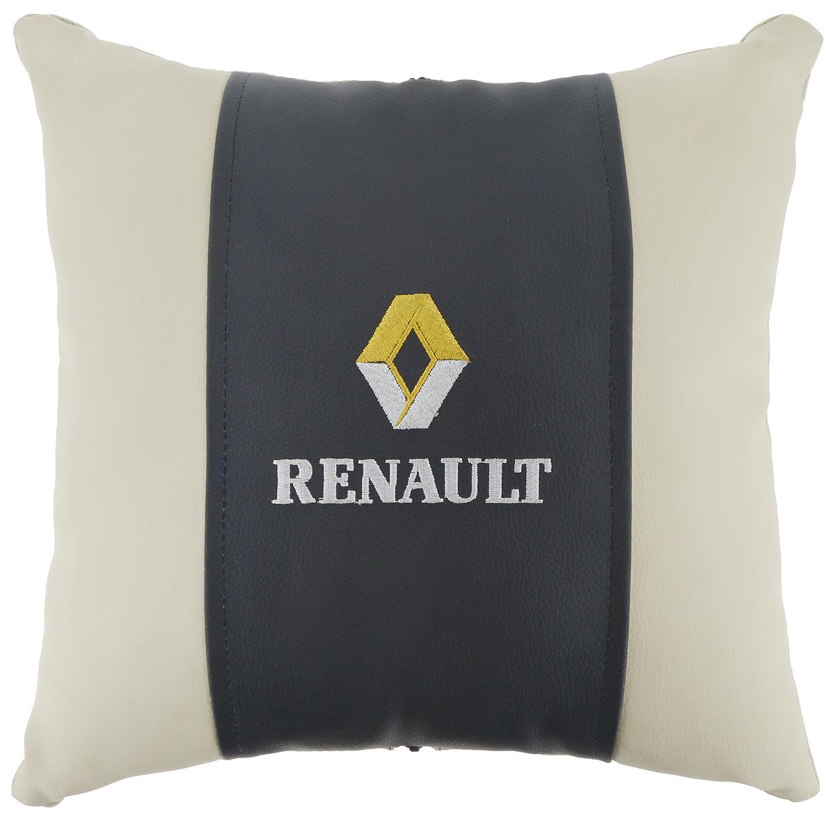 Подушка на сиденье Autoparts Renault, 30 х 30 смМ053Подушка на сиденье Autoparts Renault создана для тех, кто весь свой день вынужден проводить за рулем. Чехол выполнен из высококачественной дышащей экокожи. Наполнителем служит холлофайбер. На задней части подушки имеется змейка. Особенности подушки: - Хорошо проветривается. - Предупреждает потение. - Поддерживает комфортную температуру. - Обминается по форме тела. - Улучшает кровообращение. - Исключает затечные явления. - Предупреждает развитие заболеваний, связанных с сидячим образом жизни. Подушка также будет полезна и дома - при работе за компьютером, школьникам - при выполнении домашних работ, да и в любимом кресле перед телевизором.