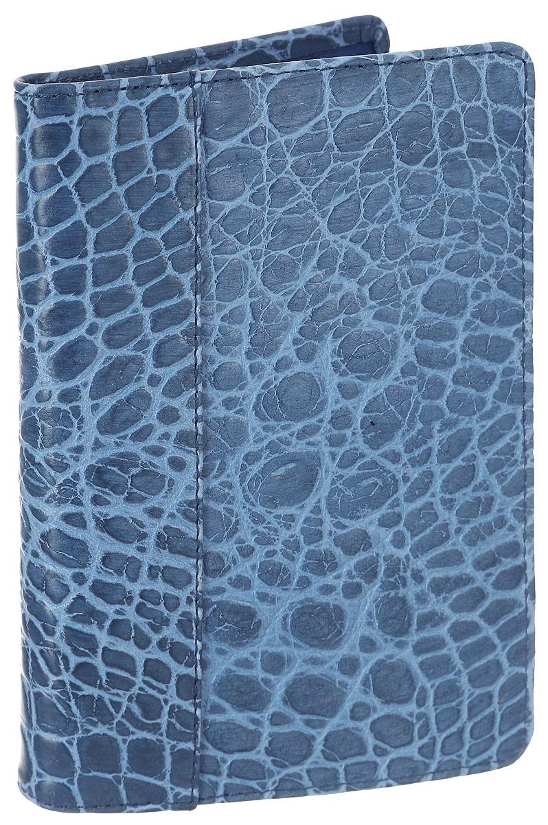 Обложка для паспорта женская Esse Page Elite, цвет: синий. GPGE00-000000-FG108S-K100BM8434-58AEСтильная женская обложка для паспорта Esse Page Elite выполнена из натуральной кожи и оформлена тиснением под крокодила.На внутреннем развороте имеются три кармана для кредитных карт или визиток. Внутри обложка декорирована тиснением логотипа бренда.Обложка не только поможет сохранить внешний вид ваших документов и защитить их от повреждений, но и станет стильным аксессуаром, идеально подходящим вашему образу. Обложка для паспорта стильного дизайна может быть достойным и оригинальным подарком.