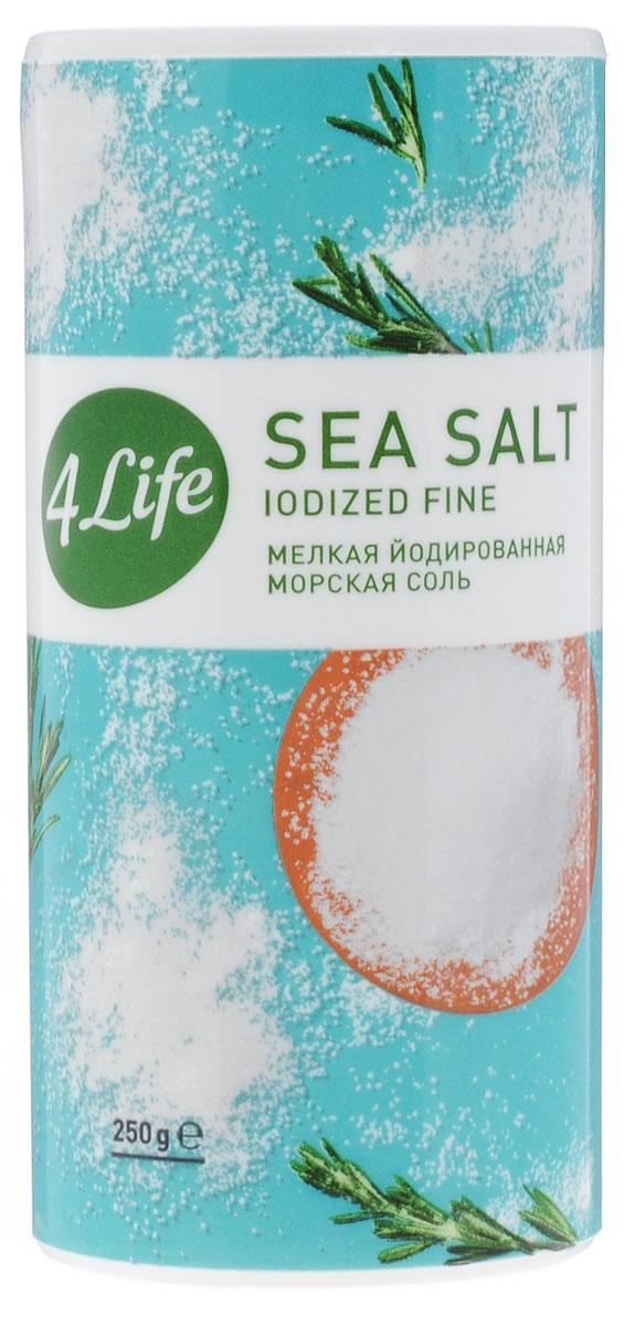 4Life соль морская мелкая йодированная, 250 г0120710Атлантическая морская йодированная соль 4Life - это 100% натуральный продукт, в своем составе не содержит Е535, 536, дополнительно обогащена йодом. Морская соль предназначена для приготовления различных продуктов, а также для подсаливания уже готовых блюд. Благодаря своему особому составу, морская соль 4Life тонко и изысканно подчеркивает естественный вкус продуктов, поэтому ей отдают предпочтение и гурманы, и сторонники здорового питания. Морская соль добывается путем выпаривания чистейшей воды Атлантического океана под солнечными лучами. Этот естественный, экологичный метод производства позволяет получить максимально чистую соль природного состава. Она содержит не только NaCl, но и широкую палитру полезных для здоровья микроэлементов. Морская соль дополнительно йодирована йодатом калия, который необходим для компенсации йододефицита, характерного для большей части населения нашей страны. 5-10 г соли 4Life полностью удовлетворяют суточную потребность организма в йоде.